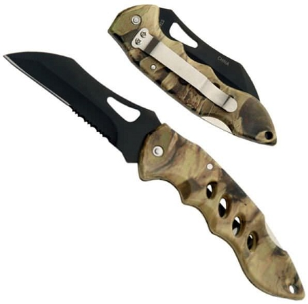 Forest Hunter Camo Folding Knife