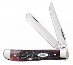 Case XX Crimson Red Peach Seed Bone 6207 Mini Trapper
