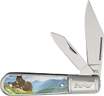 Novelty Cutlery Black Bear Barlow Knife