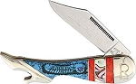 Rough Rider Dream Catch Pearl Inlay Leg Knife
