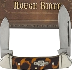 Rough Rider Imitation Tortoise Shell Butterbean Pocket Knife