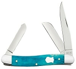 Case XX Smooth Caribbean Blue Bone 6318 Stockman
