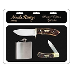Schrade Uncle Henry Flask and Knife Gift Set