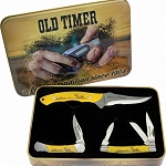 Schrade Old Timer Scrimshaw Limited Edition Knife Gift Set