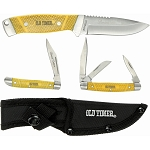 Schrade Old Timer Limited Edition Yellow 3 Knife Gift Set