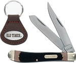 Schrade Old Timer Sawcut Delrin Trapper and Keychain