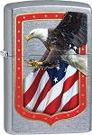 Zippo Eagle and Flag Border Lighter