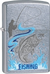 Zippo Man Bass Fishing Lighter