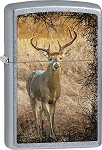 Zippo Chrome Buck Deer Lighter