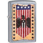 Zippo Patriotic Vintage Flag and Eagle Lighter