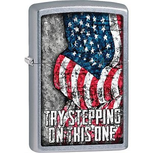Zippo Try Stepping On This One Flag Lighter